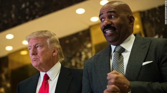 Steve Harvey and Donald Trump (Alt)