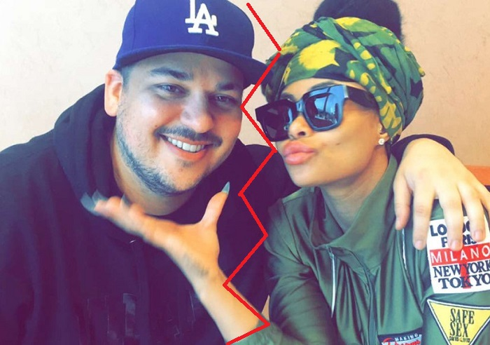 Rob Kardashian and Blac Chyna (Broken)