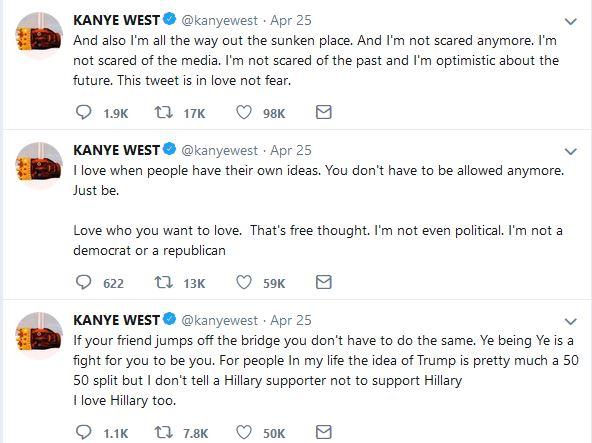 Kanye's Donald Trump Tweets 2