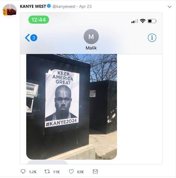 Kanye's Keep America Great Tweet