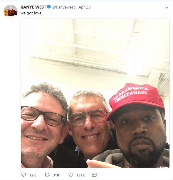 Kanye's MAGA Hat Tweet 2