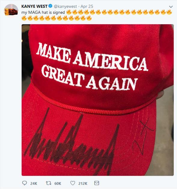 Kanye's MAGA Hat Tweet