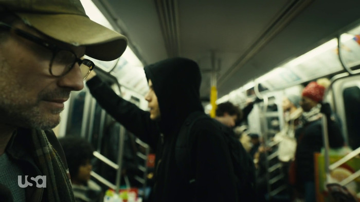 Mr. Robot and Elliot on Subway (Alt)