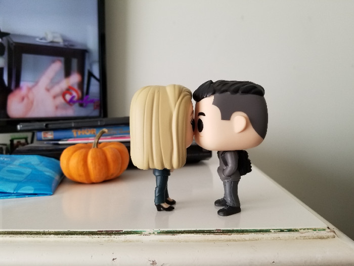 Elliot and Angela Kiss (Pop Funko Dolls)