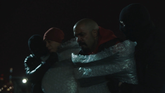 Tommy and Men in Bubble Wrap (Alt)